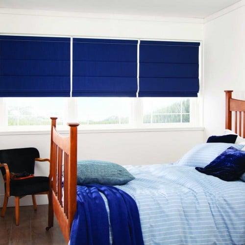 Blue Bedroom Roman Blinds