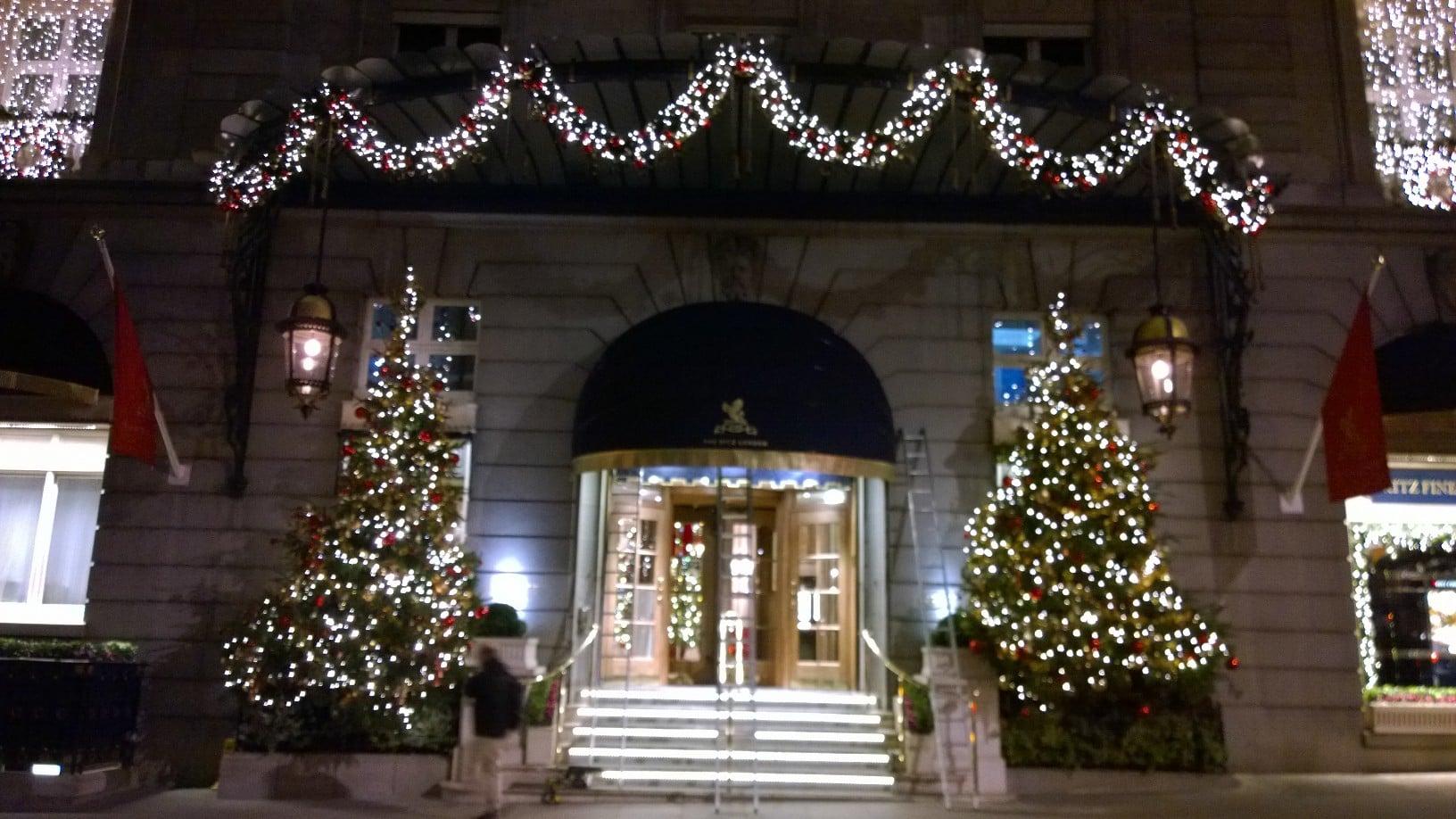 Christmas At The Ritz London.The Ritz London Radiant Blinds Ltd