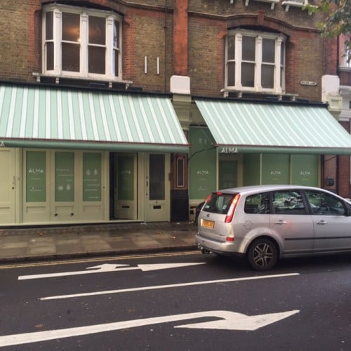 Alma Cafe Awning Recover Barnes Radiant Blinds Ltd