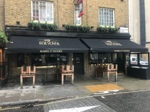 Victorian Awnings London Installed by Radiant Blinds at Mabel's Tavern