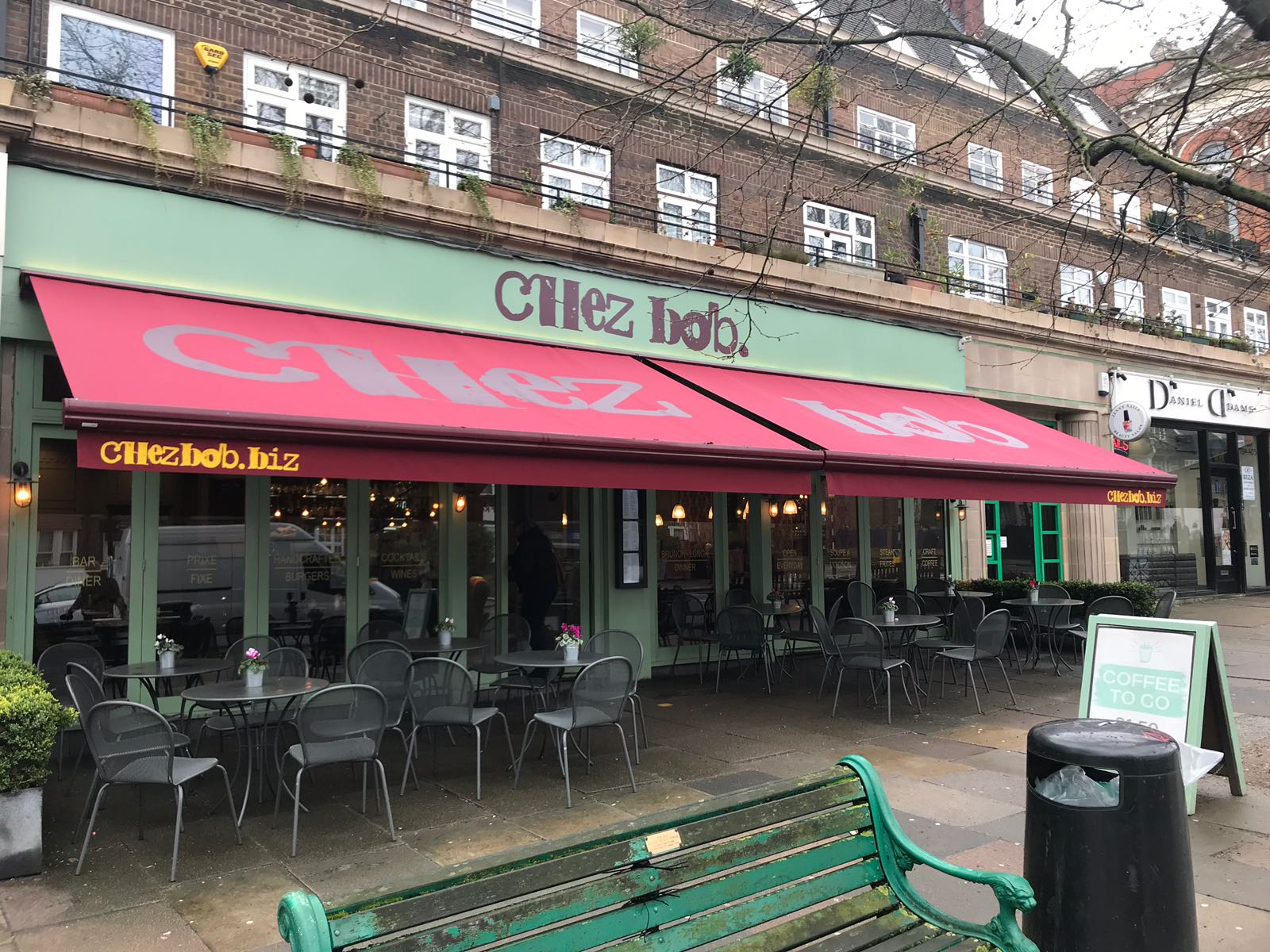 Awning Recover For Busy Belsize Park Restaurant Radiant